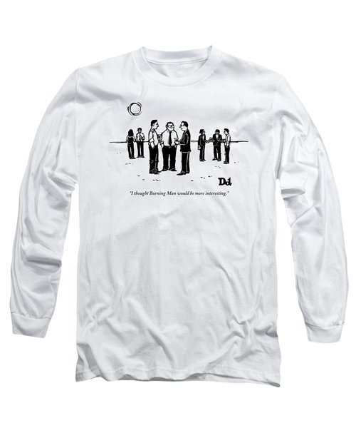 Three Businessmen Are Standing In The Desert Long Sleeve T-Shirt