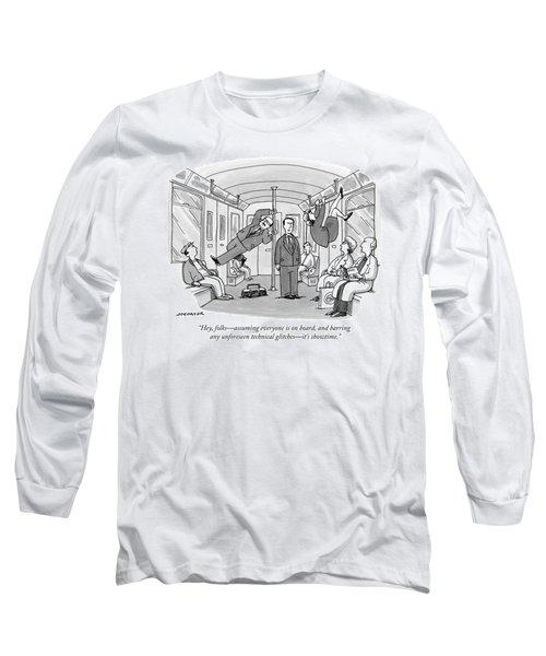 Three Businesspeople Dance Acrobatically Long Sleeve T-Shirt