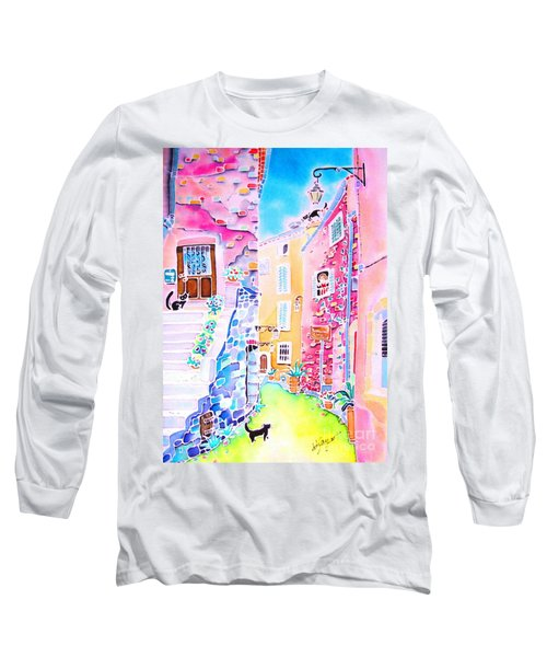 Three Cats In The Alley Long Sleeve T-Shirt