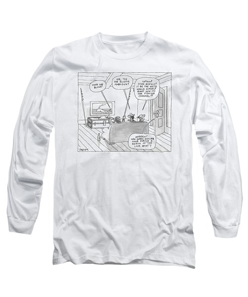 Three Characters From Moby Dick Spot The Whale Long Sleeve T-Shirt