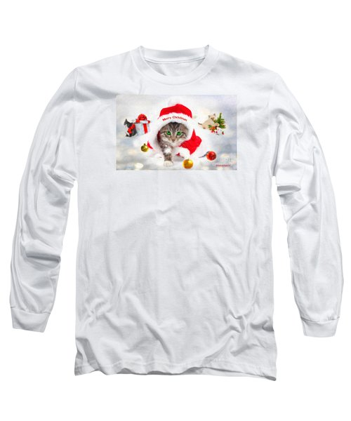 Three Christmas Kittens Long Sleeve T-Shirt