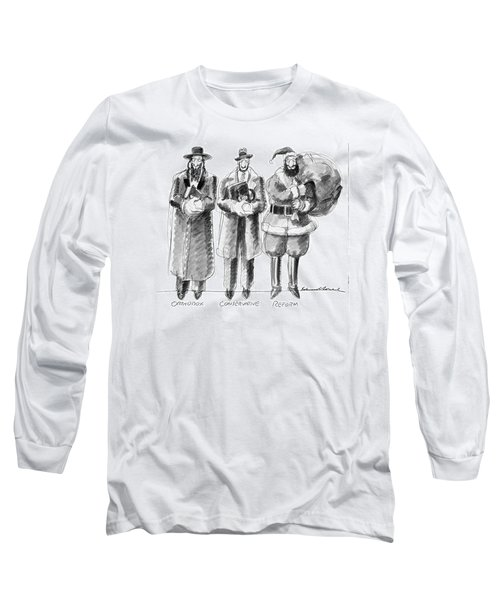Three Jews Are Standing In A Line Long Sleeve T-Shirt