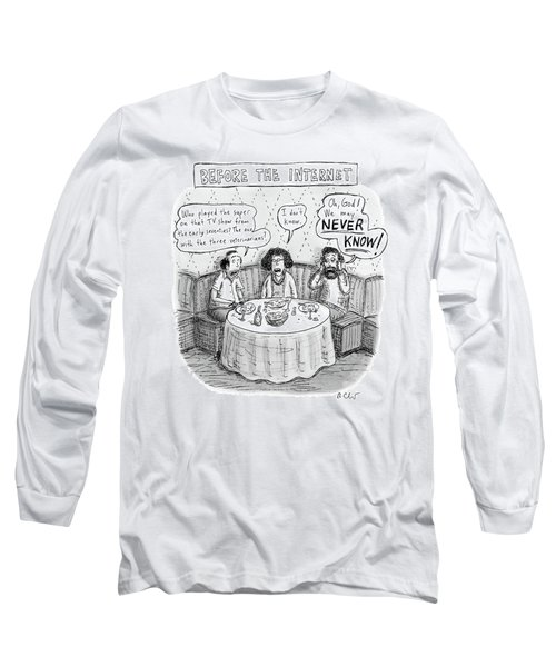 Three Late-middle Aged People Sitting Long Sleeve T-Shirt