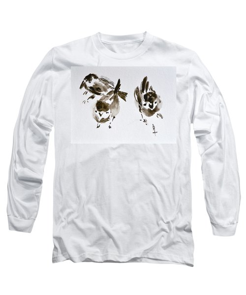 Three Little Birds Perch By My Doorstep Long Sleeve T-Shirt