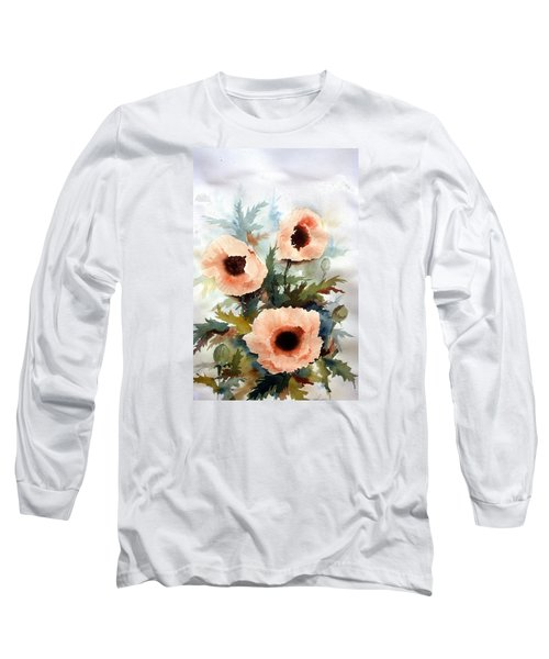 Three Poppies Long Sleeve T-Shirt by William Renzulli