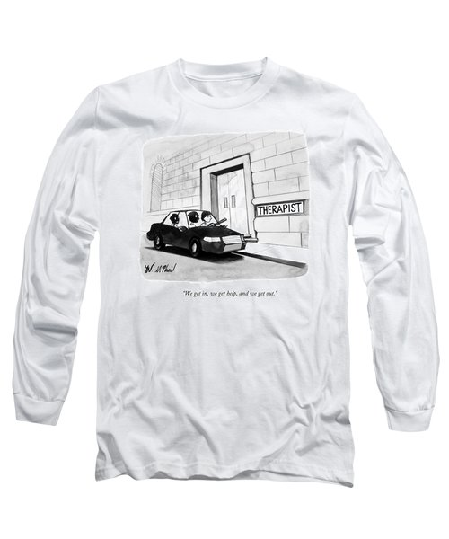 Three Robbers Sit In A Car Outside A Building Long Sleeve T-Shirt