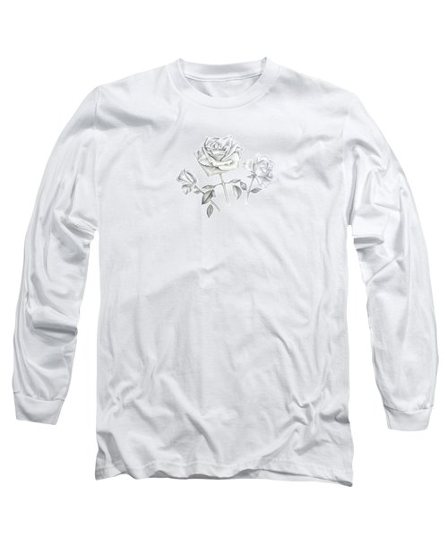 Three Roses Long Sleeve T-Shirt by Elizabeth Lock