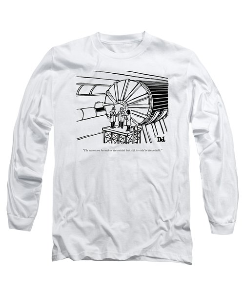 Three Scientists Stand By An Enormous Machine Long Sleeve T-Shirt