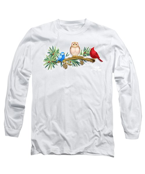 Three Watchful Friends Long Sleeve T-Shirt