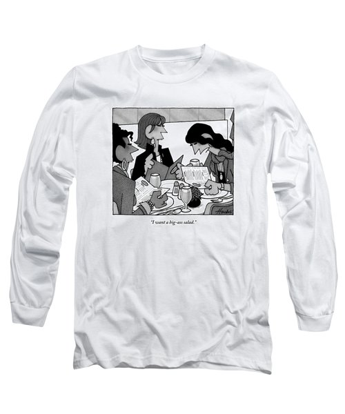 Three Women Are Sitting At A Table Reading Menus Long Sleeve T-Shirt