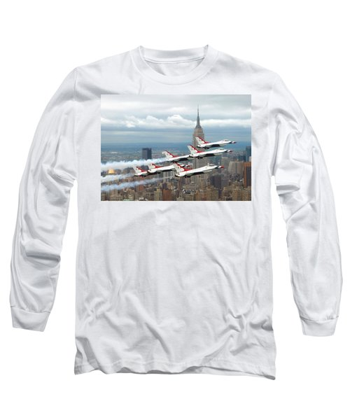 Thunderbirds Over New York City Long Sleeve T-Shirt by U S A F