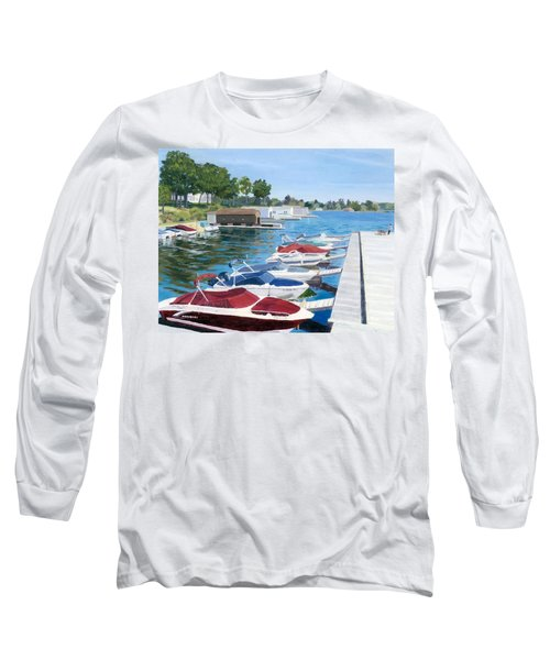 Long Sleeve T-Shirt featuring the painting T.i. Park Marina by Lynne Reichhart