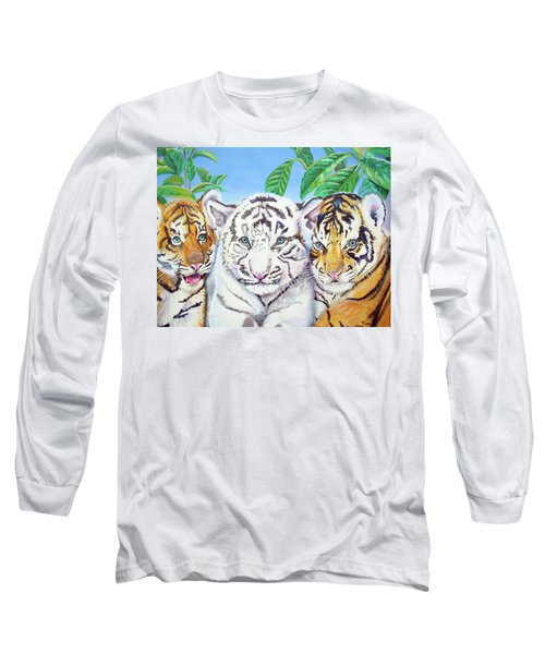 Tiger Cubs Long Sleeve T-Shirt by Thomas J Herring