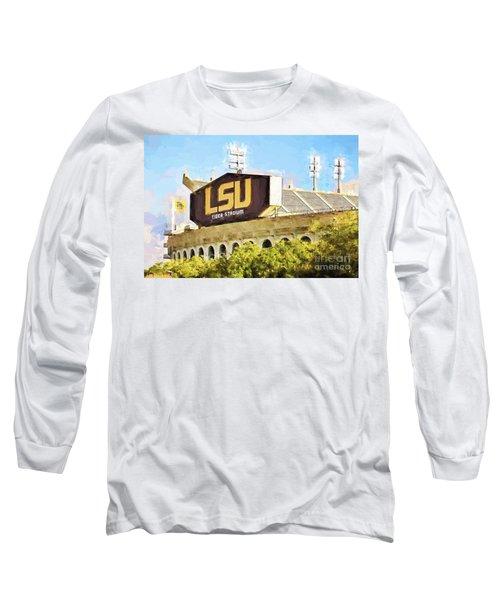 Tiger Stadium Long Sleeve T-Shirt by Scott Pellegrin