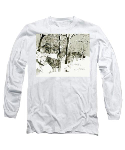 Timber Wolf Pack Long Sleeve T-Shirt