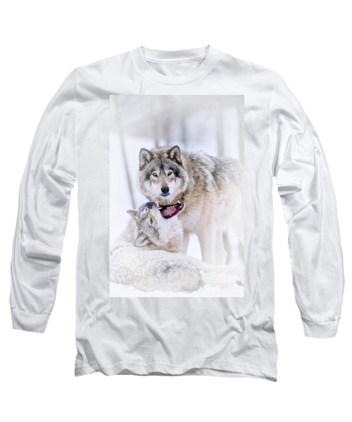 Timber Wolf Pictures 56 Long Sleeve T-Shirt
