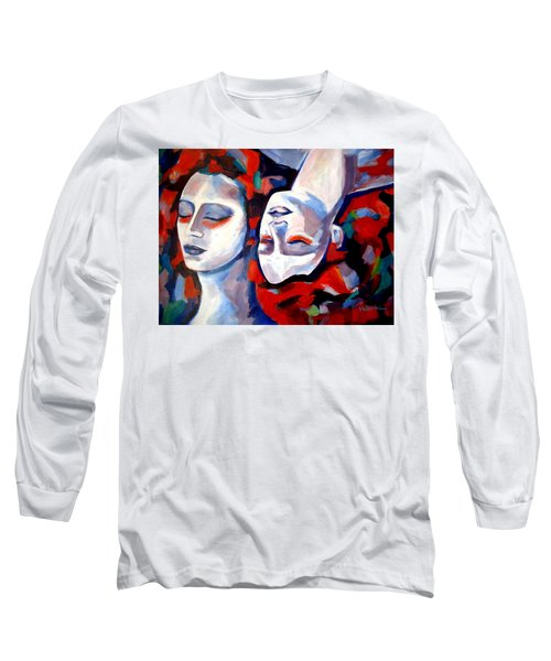 Long Sleeve T-Shirt featuring the painting Time Goes By by Helena Wierzbicki