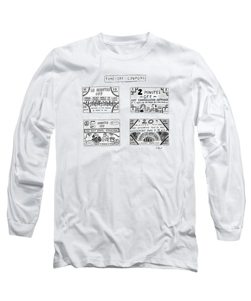 Time-off Coupons Long Sleeve T-Shirt