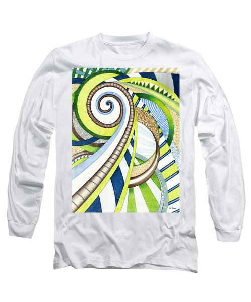 Time Travel Long Sleeve T-Shirt by Shawna Rowe