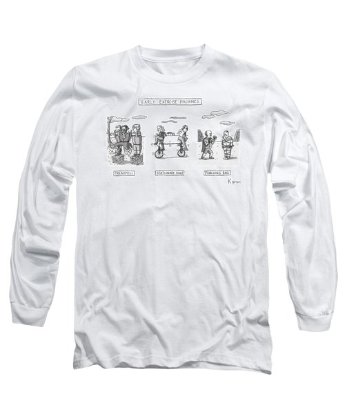 Title: Early Exercise Machines. Three Early Long Sleeve T-Shirt