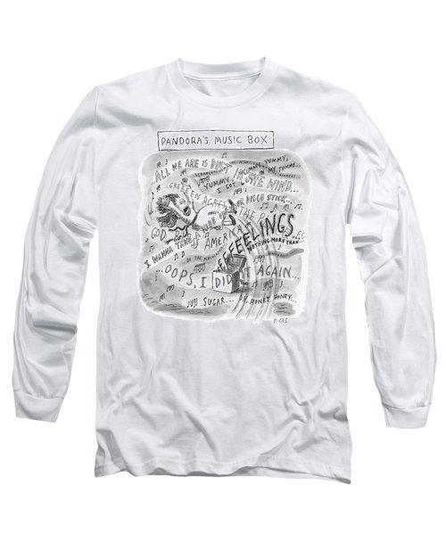 Title: Pandora's Music Box.  A Woman Is Thrust Long Sleeve T-Shirt