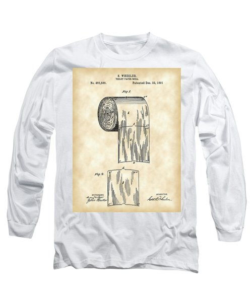 Toilet Paper Roll Patent 1891 - Vintage Long Sleeve T-Shirt by Stephen Younts