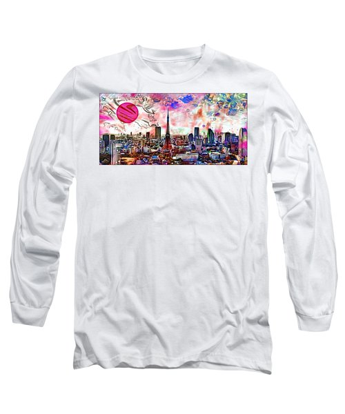 Tokyo Metropolis Long Sleeve T-Shirt by Daniel Janda