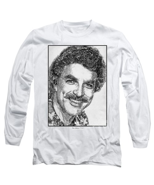 Tom Selleck In 1984 Long Sleeve T-Shirt by J McCombie