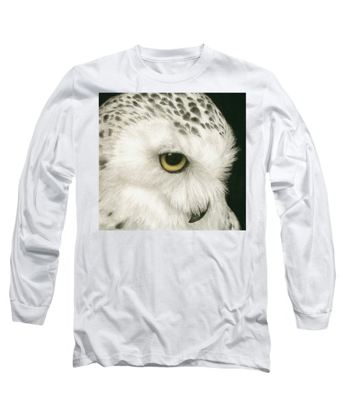 Long Sleeve T-Shirt featuring the painting Topaz In The Snow by Pat Erickson