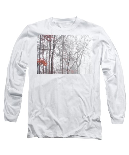 Long Sleeve T-Shirt featuring the photograph Touch Of Fall In Winter Fog by Pamela Hyde Wilson