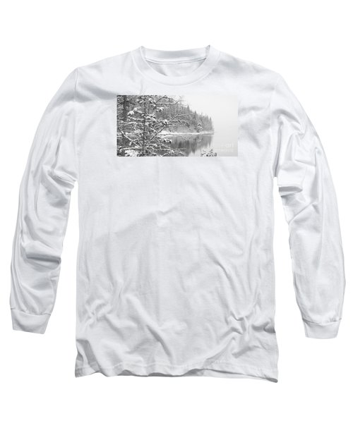 Touch Of Winter Long Sleeve T-Shirt by Diane Bohna