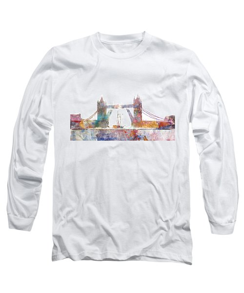 Tower Bridge Colorsplash Long Sleeve T-Shirt