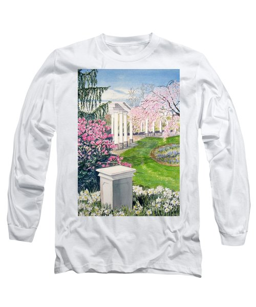 Long Sleeve T-Shirt featuring the painting Tower Hill by Carol Flagg