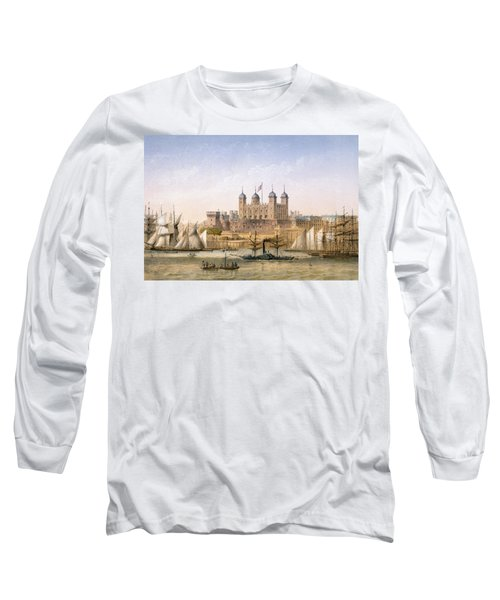 Tower Of London, 1862 Long Sleeve T-Shirt by Achille-Louis Martinet