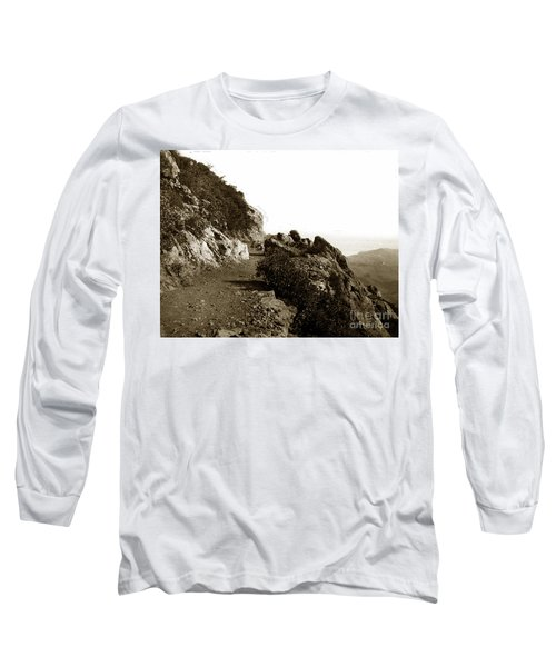 Long Sleeve T-Shirt featuring the photograph Trail On Mt. Tamalpais Marin Co California Circa 1902  by California Views Mr Pat Hathaway Archives