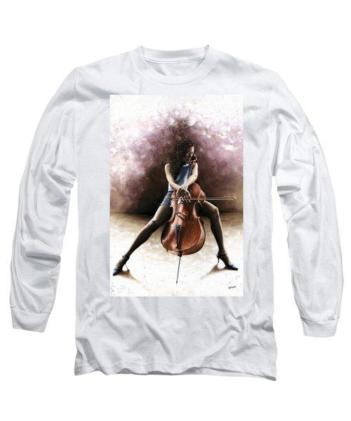 Tranquil Cellist Long Sleeve T-Shirt