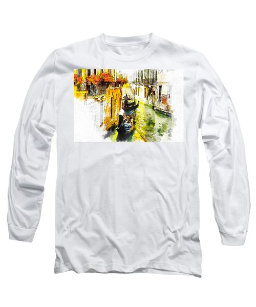Long Sleeve T-Shirt featuring the painting Tranquillity by Greg Collins