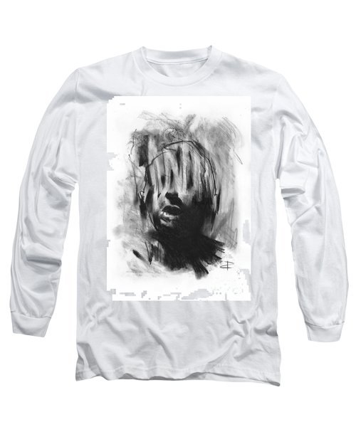 Long Sleeve T-Shirt featuring the drawing Gaza Trauma by Paul Davenport