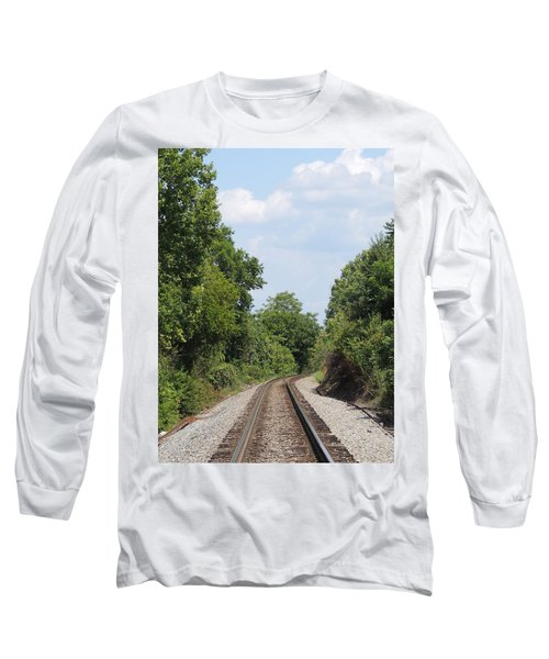 Long Sleeve T-Shirt featuring the photograph Traxs To Anywhere by Aaron Martens