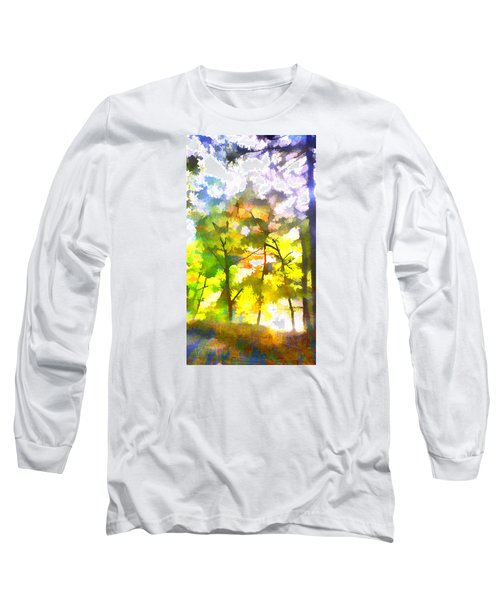 Long Sleeve T-Shirt featuring the digital art Tree Leaves by Frank Bright