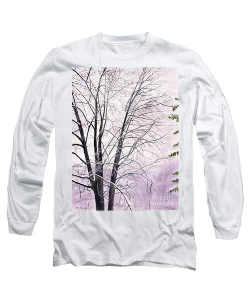 Long Sleeve T-Shirt featuring the painting Tree Memories by Melly Terpening