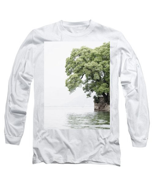 Tree Next To A Lake Long Sleeve T-Shirt