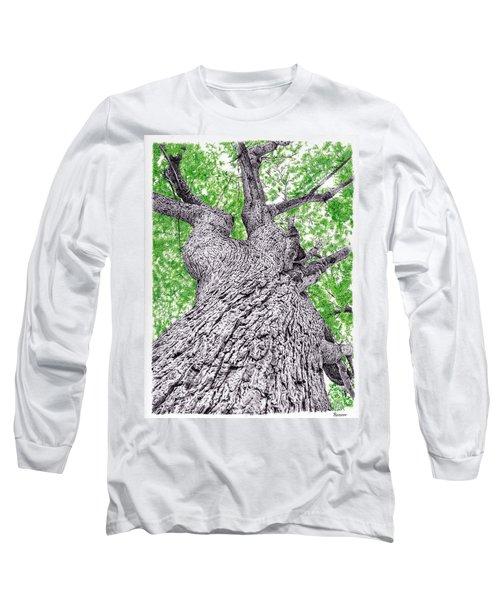 Tree Pen Drawing 4 Long Sleeve T-Shirt