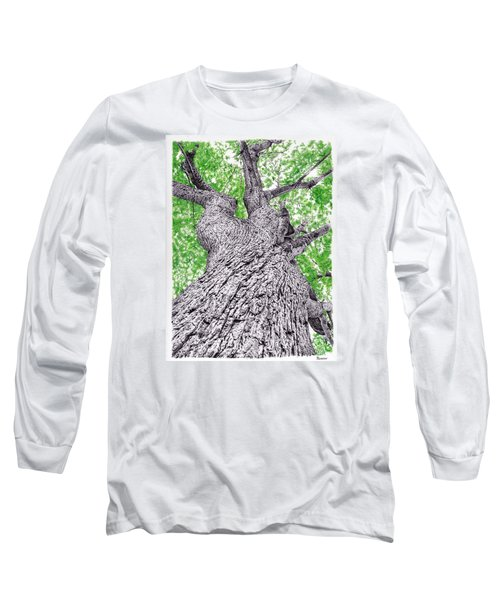 Tree Pen Drawing 4 Long Sleeve T-Shirt