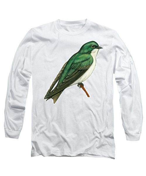 Tree Swallow  Long Sleeve T-Shirt by Anonymous