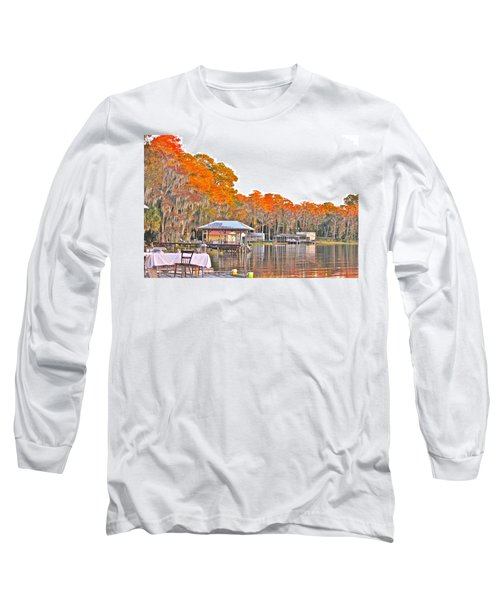 Long Sleeve T-Shirt featuring the photograph Trees By The Lake by Lorna Maza