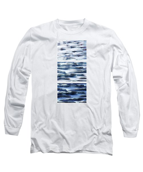 Long Sleeve T-Shirt featuring the photograph Trio In Blue by Wendy Wilton