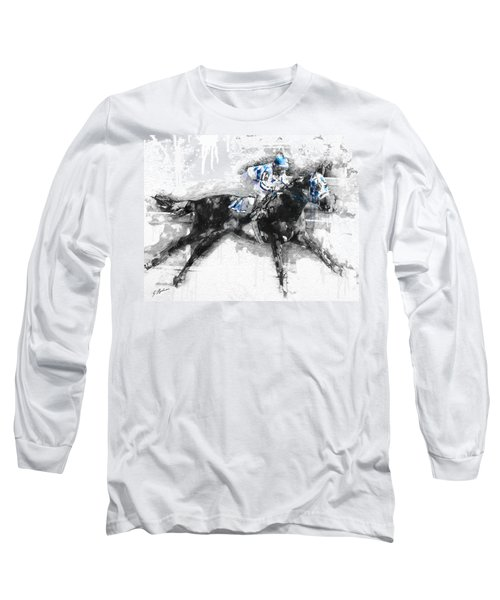 Secretariat Triple Crown 73 Long Sleeve T-Shirt by Gary Bodnar