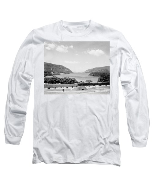 Trophy Point North Fro West Point In Black And White Long Sleeve T-Shirt