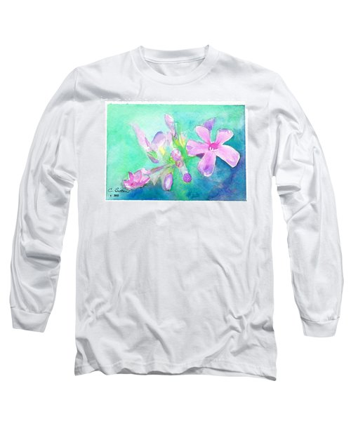 Tropical Flowers Long Sleeve T-Shirt by C Sitton